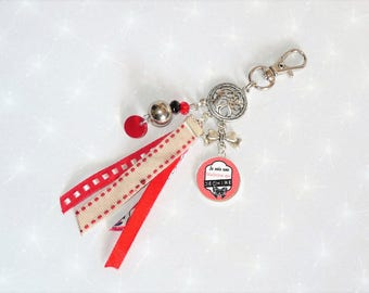 Jewelry bag/Keychain red CENTERPIECE that torn end year gift