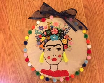 Frida Kahlo Embroidery