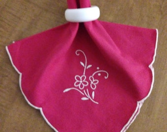 Red Napkins With Rings