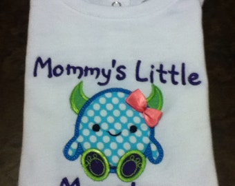 Shirt, Monster Shirt, Mommy's little monster, Mommy
