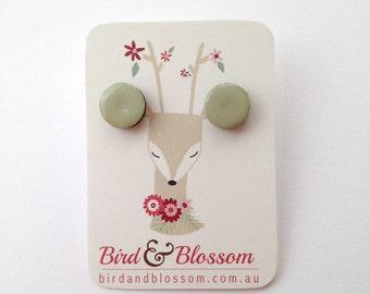 Sage Earrings Round