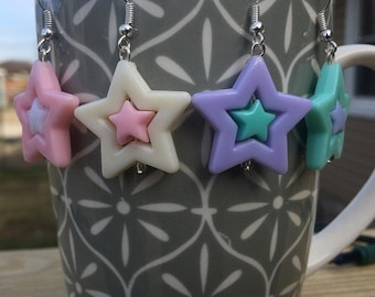 Kawaii Pastel Star Earrings