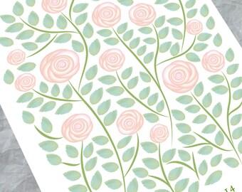 Wedding Guest book alternative - White Roses