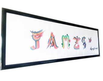 Personalized Name Art, Personalized Gift, Anniversary, Baby Name