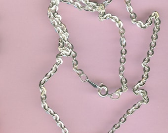 Silver Necklaces - 18 Inch Curb Chain - Package of 10 - 3mm
