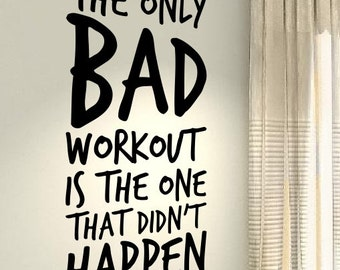 Exercise Squat Body Workout Motivational Fitness Gym Life Workout Quote  Wall Vinyl Decals Stickers DIY Art