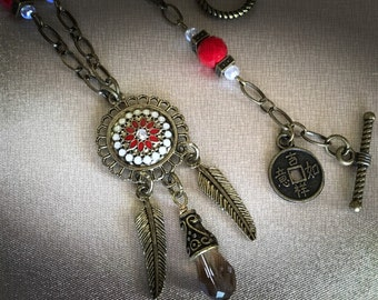 Bronze Native Rustic Necklace! Its another Simply Charmed Jewelry Original!