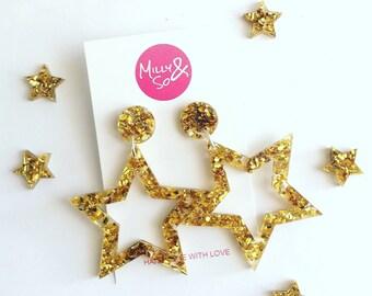 Gold star dangles