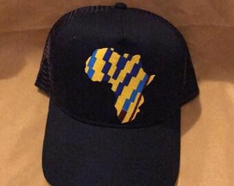 Kente 'Motherland' trucker cap