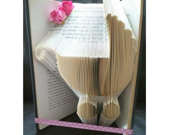Book Folding Pattern - Bookami - 303 Pages/152 Folds - Free Tutorial - DIY Gift - New Baby - Instant Download PDF - Christening - DIY Craft