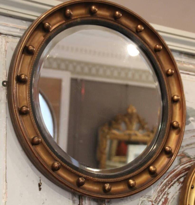 Mitte Jahrhundert Vintage vergoldetem Holz Spiegel gerahmt