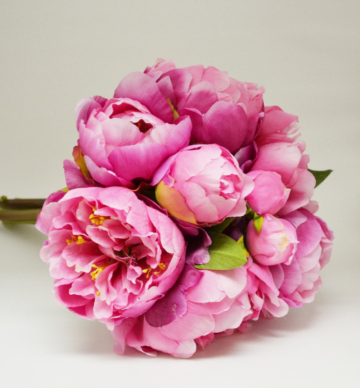 Peony Bouquet Fuchsia Hot Pink Peony Bouquet High Quality
