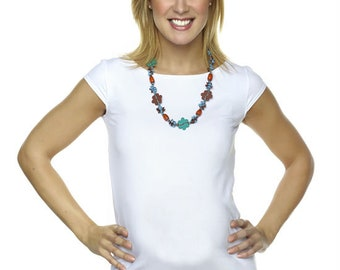 SALE! White Maternity Shirt - Made in Canada