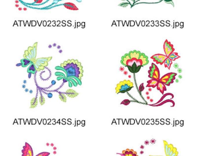 Jacobean-Butterflies-2 ( 10 Machine Embroidery Designs from ATW ) XYZ17E