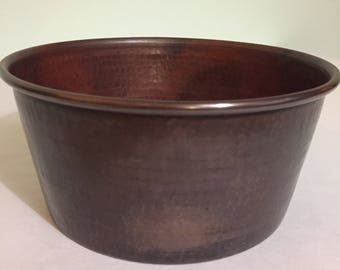 Pure Hammered Copper Pet Bowl