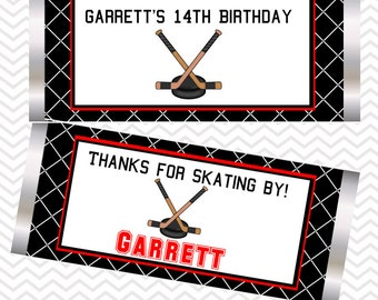 Hockey - Personalized Candy Bar Wrapper
