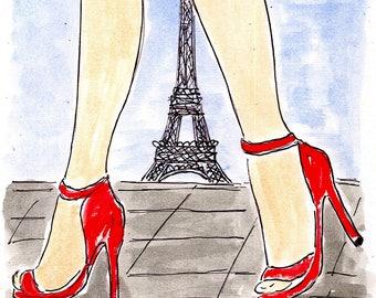 Fashionable Walk in Paris