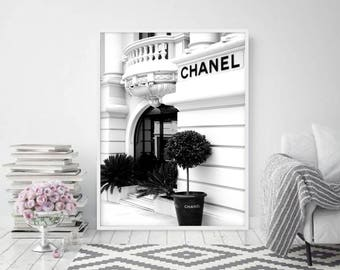 Chanel Print • Chanel Poster Chanel Decor Fashion Print Fashion wall art Coco Chanel Wall Art Minimalist Chanel printable Chanel photo wall