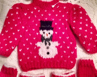 Christmas American Girl doll sweater set.