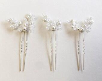 Pearl Hair Pins, Bridal Hair Pins, Bridesmaid Hair Accessories