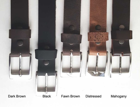 """Black Leather Belt & Buckle with Snaps, Belt Keeper Grooms and Groomsmen's Gifts  1-1/2"""" wide Belt for Jeans or 1-1/4"""" wide Belt for Suits"""