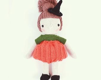 Crochet doll - Pumpkin Witch