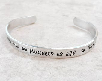 SALE I once protected him now he protects us all military mom jewlry US Navy Army marine corps air force coast guard personalized jewelry