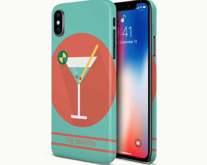 Featured listing image: The Martini Icon Phone Case - Google Pixel II Phone Case - Protective Slim Phone Case - iPhone X Phone Case - Case Escape Phone Case