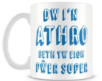 Welsh teacher superpower mug. Athro pwer super mwg