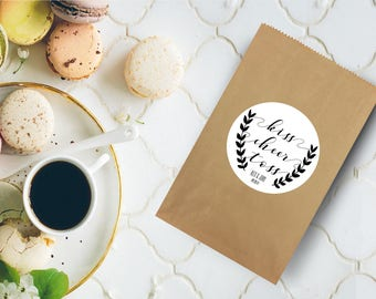 sacchetto di carta di nozze / wedding etichette / sposa adesivi / custom etichette / carta personalizzati borse / partito borse / adesivi personalizzati di nozze / matrimoni
