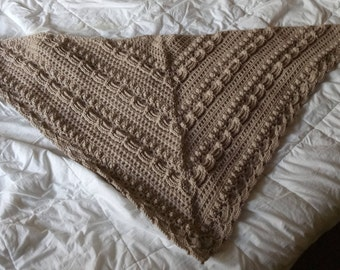 Lost in time shawl design by Mijocrochet