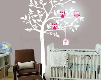 Wand Aufkleber Kinderzimmer   Kinderzimmer Wandtattoo   Wandtattoo Baum    Baum Und Eulen