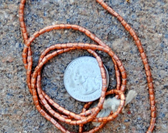 African Copper Tube Bead 2x2mm