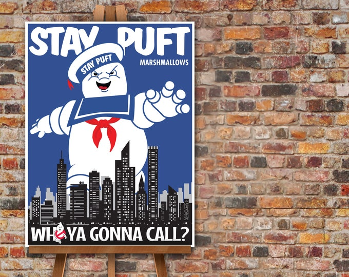 """Ghostbuster Party Poster - 18""""x24"""" Poster, Ghostbuster Birthday, Halloween Party 