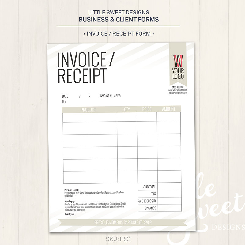 receipt and invoice