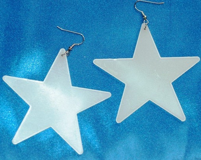 Glowing Star Earrings  Medium size