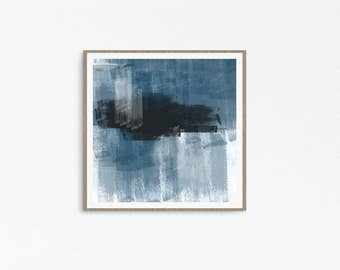 Oversized Abstract Wall Art, Oversized Canvas Art, Oversized Wall Art, Abstract Canvas Blue and Black, Canvas Art Abstract, Downloadable art