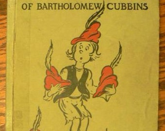 vintage book ... Dr. SUESS The 500 HATS of BARTHOLOMEW Cubbins ...