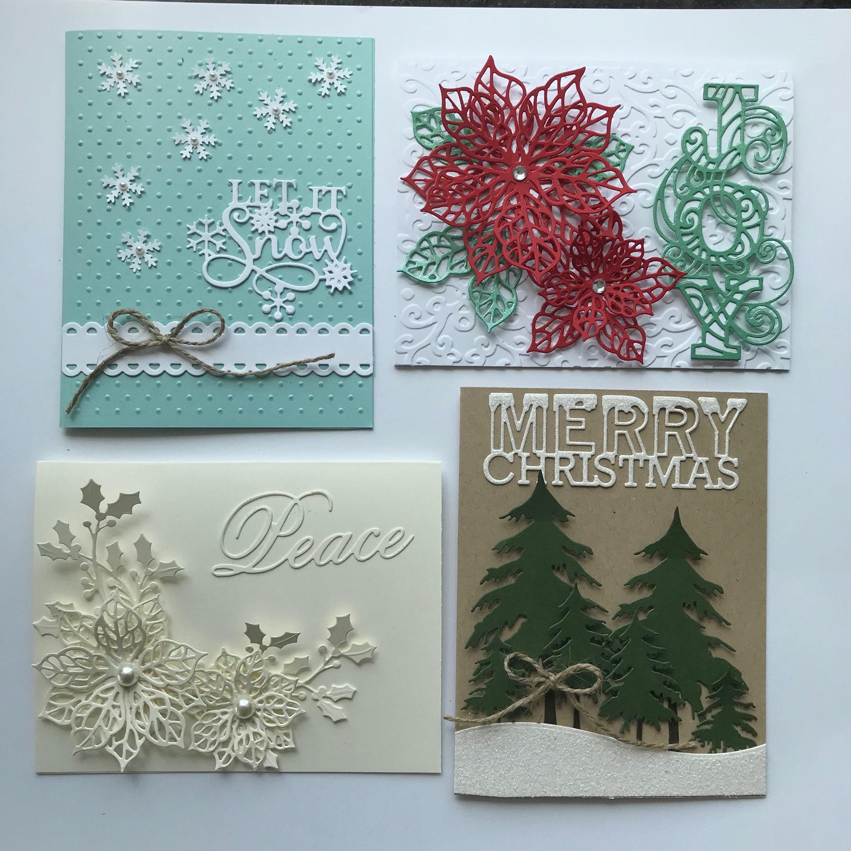 Card Kit Set Of 4 Diy Christmas Cards