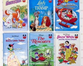 Vintage Walt Disney Books Lot of 6   Disney's Wonderful World of Reading Book Series   Vintage Disney Books Collection   Disney Book Lot