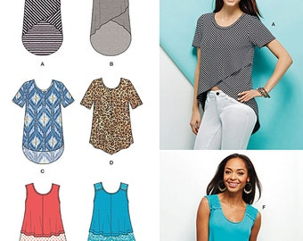 Simplicity Sewing Pattern 1160 Misses' Knit Tops