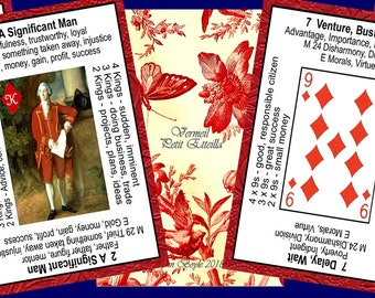 Vermeil Petit Etteilla Fortune Telling Oracle Cards. Brand New. Self Published.