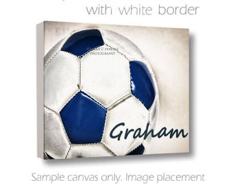 Custom Soccer Canvas-Personalized Wall Art-Custom Soccer Canvas-Name Art-Sports Wall Decor-Fine Art Canvas Print-Girls/Boys Room Wall Art