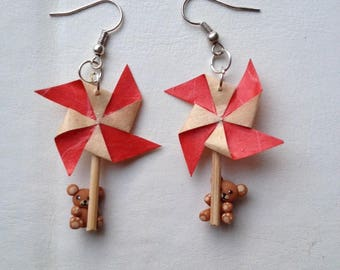 Earrings small Cubs windmills