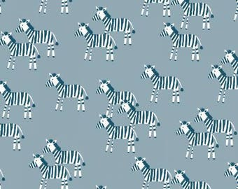 Fabric by the Yard  - Fat Quarter Bundle - Fabric Bundle - Quilt Fabric - Dear Stella - Welcome to the Jungle - Zebras Gray