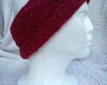 Red Sparkle Head Warmer