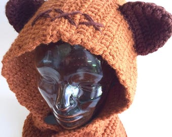 Space Teddy Bear scoodie, handmade crochet || Child, Adult || Made to Order