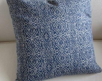 PRIYA ikat decorative designer Pillow cover blue 18x18 20x20 22x22 24x24 26x26 12x20 13x26