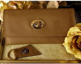 Vegan Leather Wallet, Ladies Brown Wallet, Womens Wallet Vegan, Brown Trifold Wallet, Graduation, Gift Idea, Gift under 60, Long Wallet