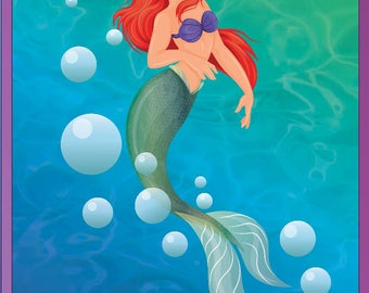 The Little Mermaid/Arial A3 Poster